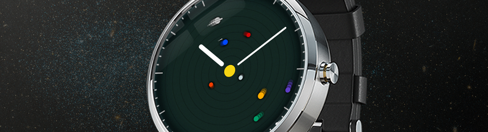 Planets Watch Face for Wearables