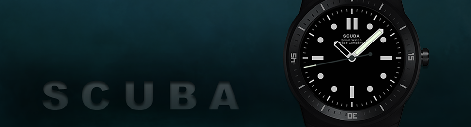 Scuba Diver Watch Face available on Play Store