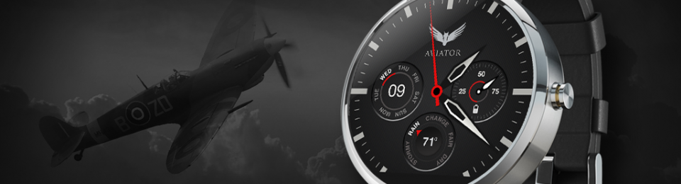 Aviator watch face for Android Wear – Turn your smartwatch into a great pilot watch