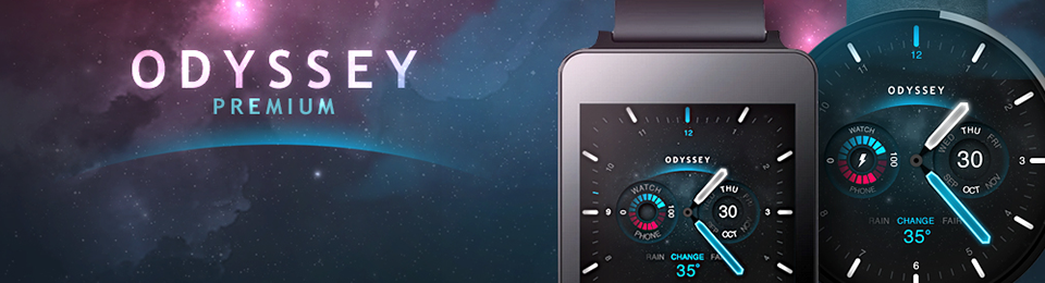 Odyssey Watch Face launched for Android Wear