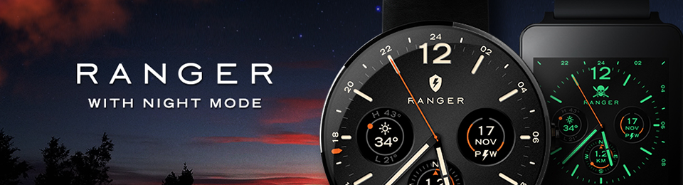 Military watch face for Android Wear