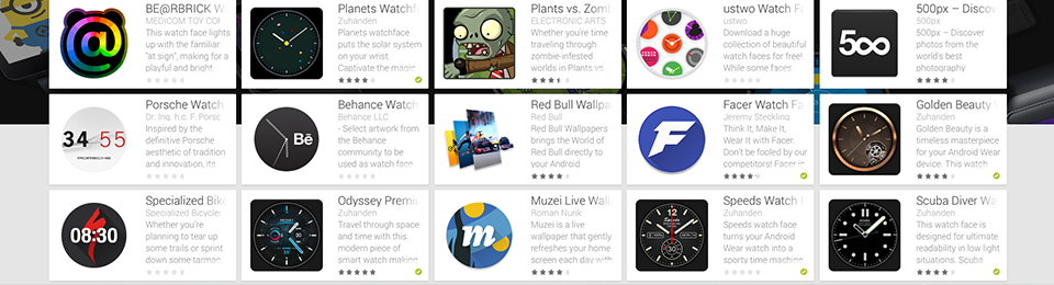 5 Watch faces featured in Android Wear launch collection