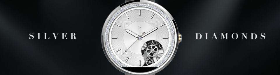 Silver Watch Face Ladies Edition. Watch face for women