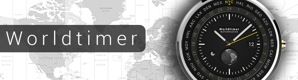 World Timer watch face for smartwatches released on Google Play Store