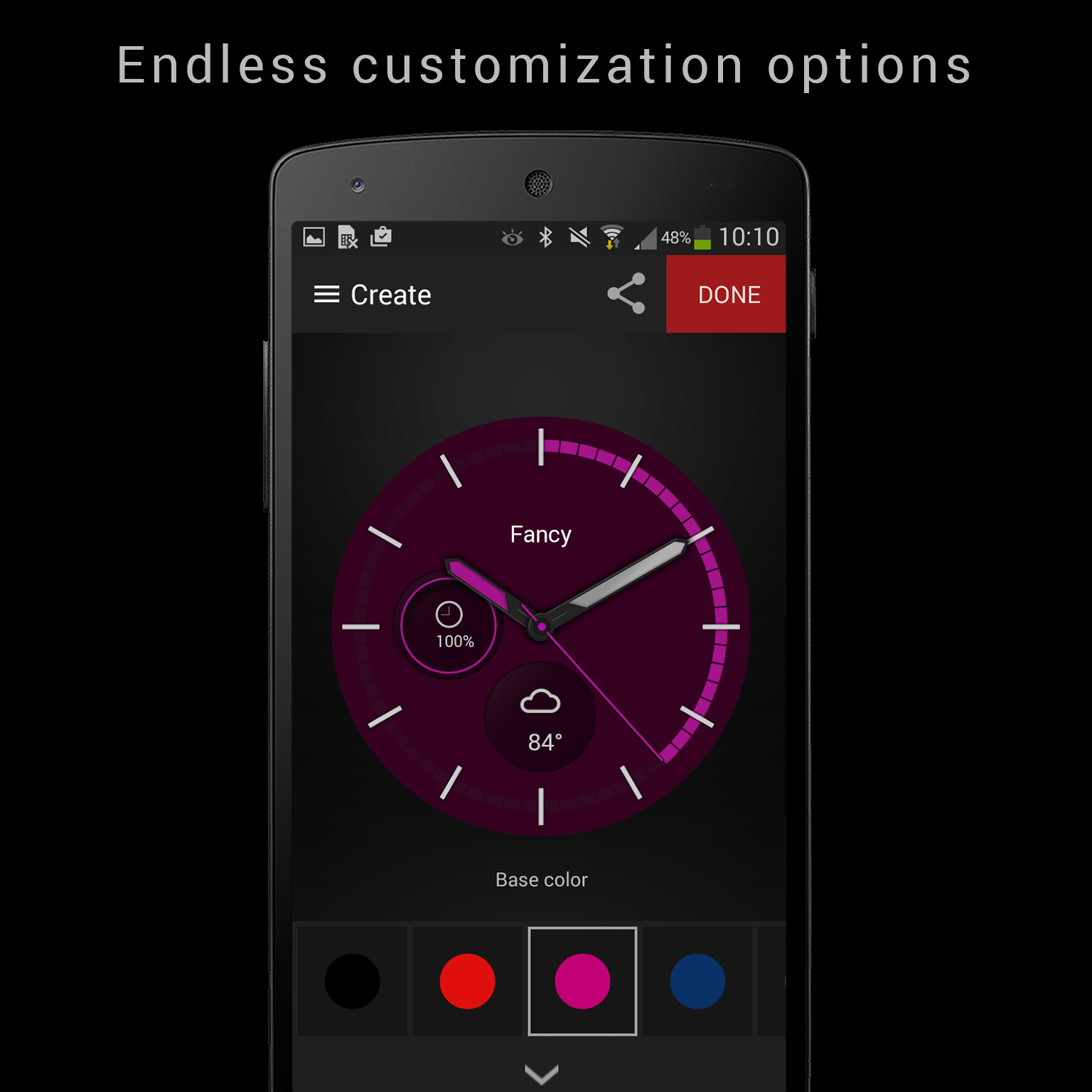 Endless-customization