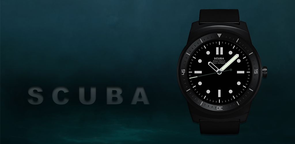 scuba diver-watch-face